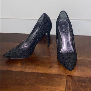 Diba Black Sparkly Heels Size US 9.5